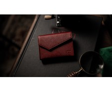 etui cartes-luxury leather-rouge
